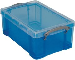 Grijze Really Useful Boxes Really Useful Box 9 liter transparant blauw