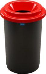 Rode Plafor Prullenbak 50L, gemakkelijk afval recyclen – afval scheiden, afvalbakken, vuilnisbak