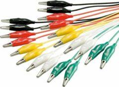 Rode Coretek Test kabel set met krokodillenklemmen - 10 kabels / klein - 0,50 meter