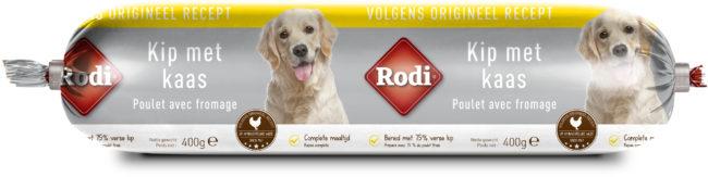 Afbeelding van Rodi Worst 400 g - Hondensnacks - Kip&Kaas - Hondenvoer