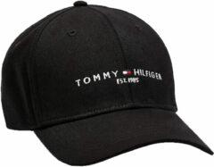 Zwarte Tommy Hilfiger Established pet met logo