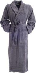 Hamams own Bamboe Sauna Badjas Grijs - unisex maat XXL - dames / heren / unisex - hotelkwaliteit - badstof badjas - luxe badjas - ochtendjas - duster - sjaalkraag - badmantel