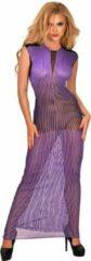 Guilty Pleasure Printed Datex lange paarse jurk - S