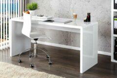 Interieurs online Moderne Hoogglans Bureau Wit 120cm