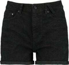 Zwarte America Today Lucy korte broek van denim met omgeslagen zoom