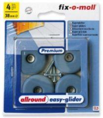 Grijze Fix-o-moll easy glijder rond 38mm grijs