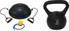 Zwarte Tunturi - Fitness Set - Balanstrainer - Balance Trainer & Tunturi Kettlebell 2 kg