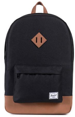 Afbeelding van Zwarte Herschel Supply Co. Heritage Rugzak black / tan synthetic leather
