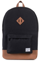 Zwarte Herschel Supply Co. Heritage Rugzak black / tan synthetic leather
