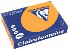 Clairefontaine 1042C Gekleurd papier A4 160 g/m² Oranje 250 Vel