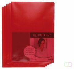 Rode Insteekmap L-model Quantore A4 PP 0.12mm rood 25 stuks