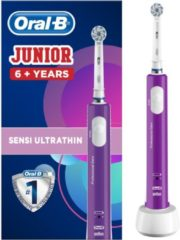 Oral-B Junior purple Elektrische kindertandenborstel Roterend / oscillerend Violet, Wit