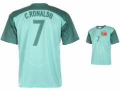 Groene Holland Portugal Voetbalshirt Ronaldo Uit 2018-2020-L