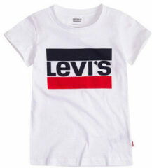 Levi's Kids T-shirt met logo wit/rood/donkerblauw