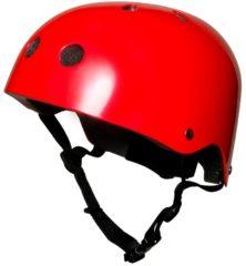 Rode Kiddimoto Metallic Red Helmet - Helmen kinderen & jongeren