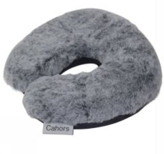 Human Comfort Cahors Neck Pillow Rabbit Fleece Nekkussen Middengrijs