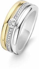 Ti Sento Milano Ti Sento-Milano 12094ZY Ring met zirconia zilver- en goudkleurig Maat 56
