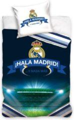 Blauwe Real Madrid CF Real Madrid - Dekbedovertrek - Eenpersoons - 140x200 cm + 1 kussensloop 70x80 cm - Multi