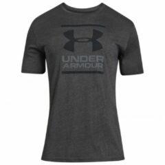 Under Armour GL Foundation SS T Sportshirt Heren - Charcoal Medium Heather - Maat XL