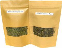 Liqun's Thee Chinese Groene thee Liefhebber pakket - West Lake Long Jing & Sichuan Jasmijn (najaar 2020)