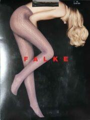 Donkerbruine Falke fantasy panty in de kleur heel donker bruin (brenda) maat M