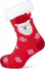 Rode HomeSocks Antislip Kerstsokken met de Kerst Sneeuwman