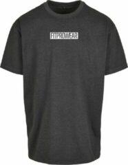 FitProWear Oversized Casual T-Shirt - Donkergrijs - Maat M - Casual T-Shirt - Oversized Shirt - Wijd Shirt - Grijs Shirt - Zomershirt - Sportshirt - Shirt Casual - Shirt Oversized - T-Shirt
