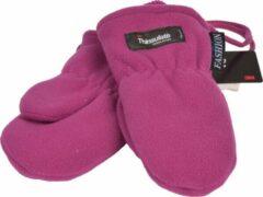 Paarse P&T Wanten Kinderen 2j. Violet met Koordje, Micro Fleece |Dubbel gevoerd Thinsulate