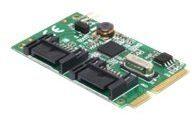 DeLOCK MiniPCIe I/O PCIe full size 2 x SATA 6 Gb/s - Speicher-Controller - SATA 6Gb/s - PCIe 2.0