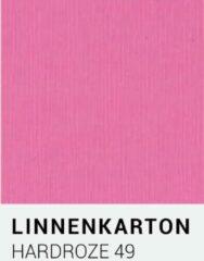 Linnenkarton notrakkarton Linnenkarton 49 Hardroze 30,5x30,5cm 240 gr.