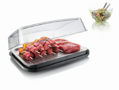 VacuVin Tomorrow's Kitchen Vlees/Vis Cool Plate - RVS - Grijs