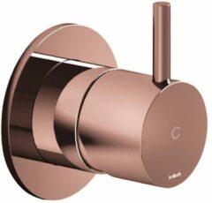 Inbouw Stopkraan Hotbath Cobber 1-hendel Roze Goud (Koud)