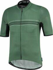 Donkergroene Rogelli Kalon Wielershirt - Korte Mouw - Leger Groen - Maat XL