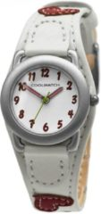 Coolwatch by Prisma P.1582 Kinderhorloge Hartjes staal/leder wit-rood 21 mm