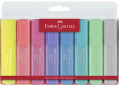 Faber Castell Tekstmarker Faber-Castell 1546 etui met 8 stuks assorti pastel