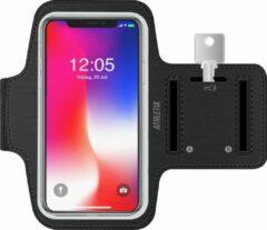Athletix® Athletix Smartphone Sportarmband - Zwart - Spatwatervrij - iPhone