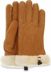 UGG Australia UGG Shorty W/ Leather Trim Dames Handschoenen - Chestnut - Maat L