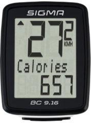 Zwarte Sigma Sport Sigma BC 9.16 - Fietscomputer - 11 functies - Bedraad - Zwart