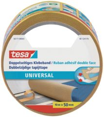 Tesa 56171-00003-01 56171-00003-01 Dubbelzijdige tape Wit (l x b) 10 m x 50 mm 1 rollen
