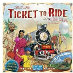 Days of Wonder Ticket to Ride uitbreidingsset India/Zwitserland Uitbreidingsspel