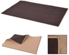 VidaXL Picknickkleed 150x200 cm beige en bruin