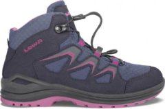 Marineblauwe lowa innox evo wandelschoenen donkerblauw roze kids