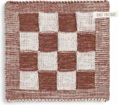 Knit Factory Pannenlap Block - Ecru/Roest