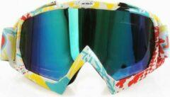 Improducts Skibril stoere luxe lens blauw evo frame geel wit en rood N type 9 - ☀/☁
