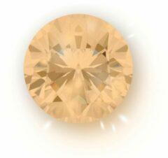 Quiges - Eligo Verwisselbaar Glas geslepen 12 mm Rond Zirkonia Licht Oranje voor Zilveren Ring - 12 mm - ER12R008