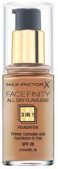 Huidskleurige Max Factor Facefinity All Day Flawless 3-in-1 foundation - 85 Caramel