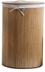 Naturelkleurige COMPACTOR Bamboo' Ronde Vouwbare Wasmand