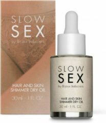Bijoux Indiscrets Slow Sex - Hair and Skin Shimmer Dry Oil - 30ml - Lotions