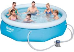 Bestway FAST SET inflatable top ring pool 305 cm - pump and filter cartridge included