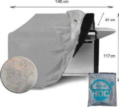Zilveren CUHOC COVER UP HOC Diamond topkwaliteit bbq hoes waterdicht-145x61x117 cm - met Stormbanden en Trekkoord